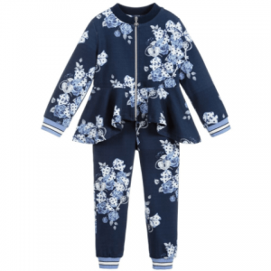 a dee girls blue cotton tracksuit